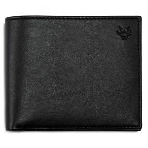 Mens Vegan Leather Wallet in Black | Watson & Wolfe