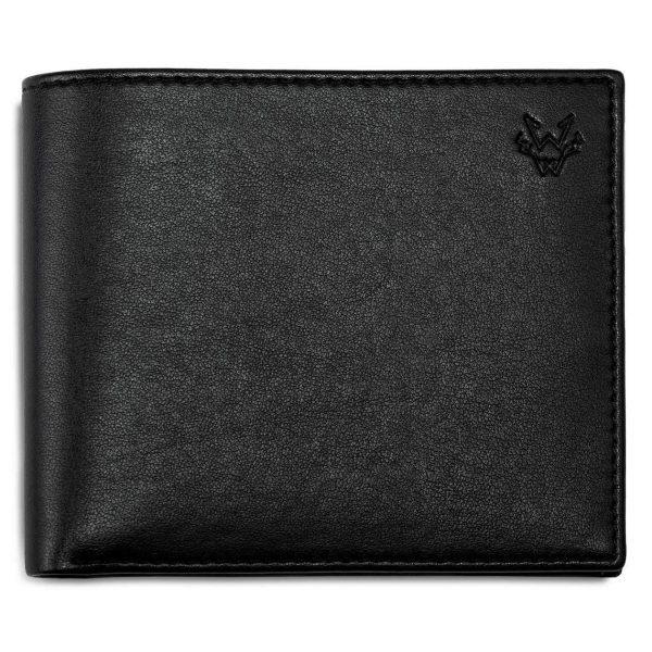 Mens Vegan Leather Wallet in Black   Watson & Wolfe