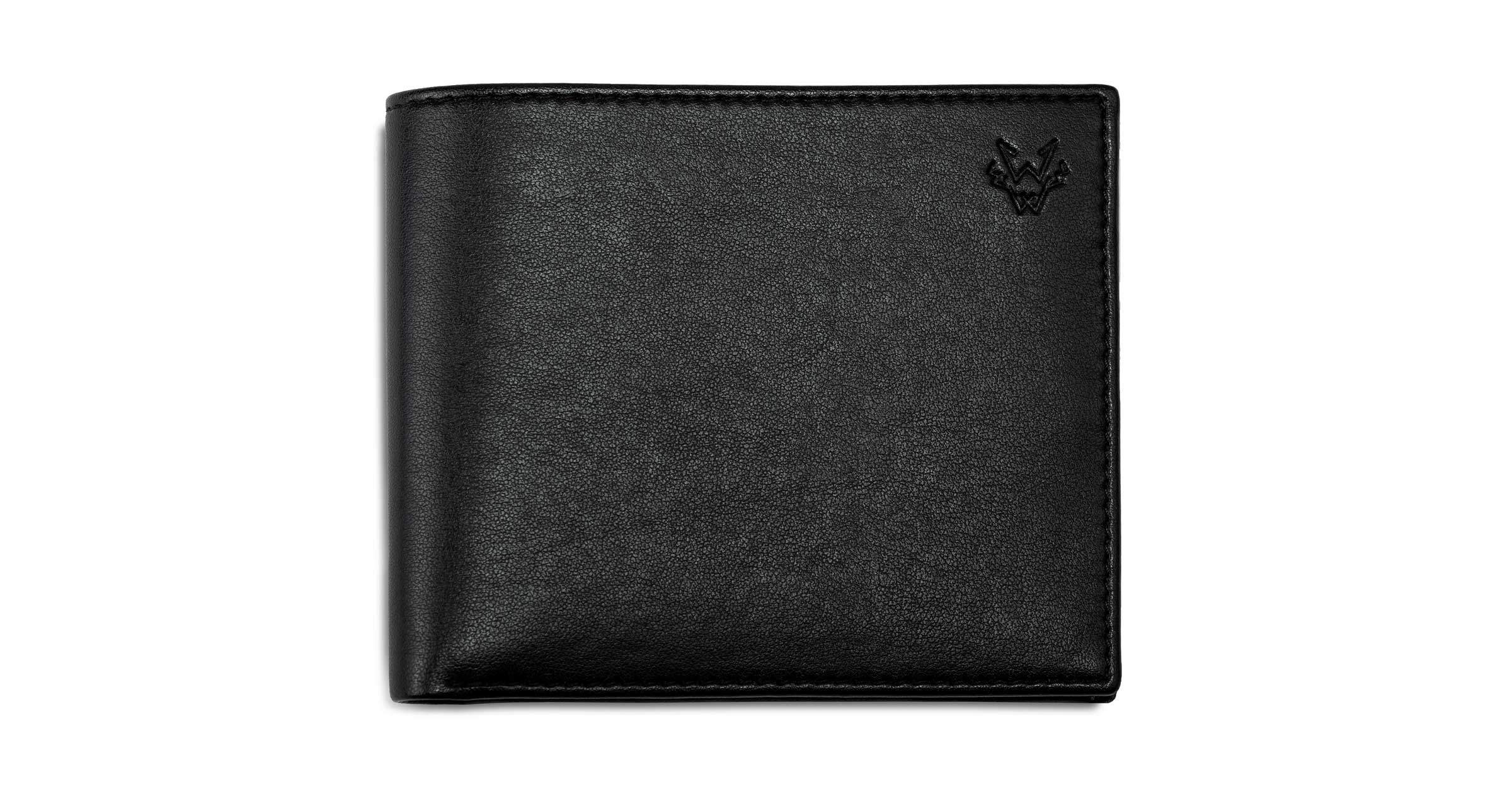 Mens Vegan Leather Wallet in Black | Watson & Wolfe