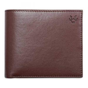 Mens Faux Leather Wallet in Brown | Watson & Wolfe