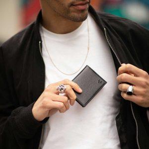 Men's RFID Card Holder in Black | Watson & Wolfe