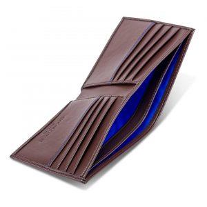 Luxury Vegan Leather Wallet in Chestnut Brown | Watson & Wolfe