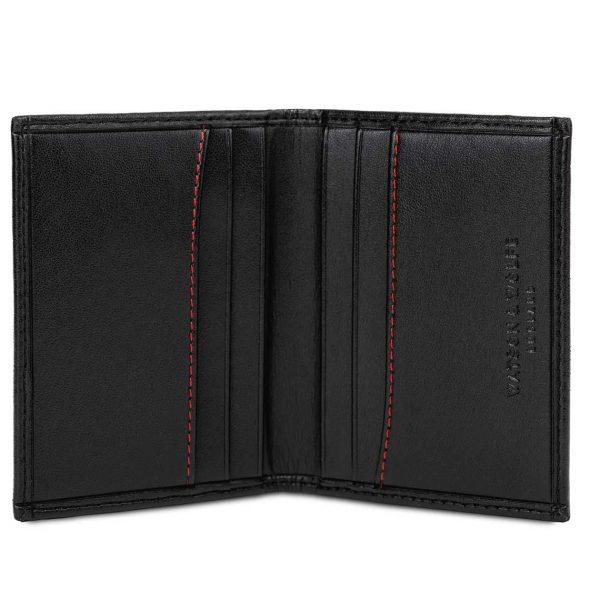 Handmade Bifold Card Case in Black   Watson & Wolfe