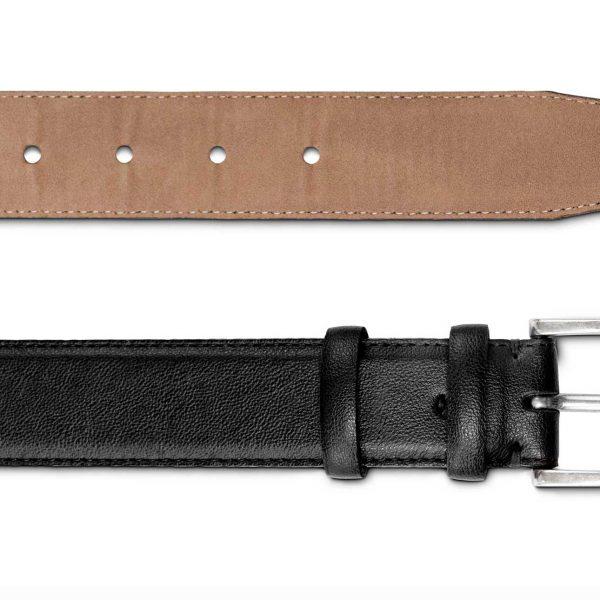 Black Vegan Belt   Watson & Wolfe