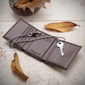 Trifold Wallet for Belt Chain   Watson & Wolfe