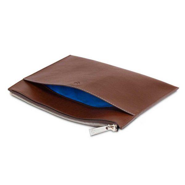 Travel Pouch Bag in Oakbark   Watson & Wolfe