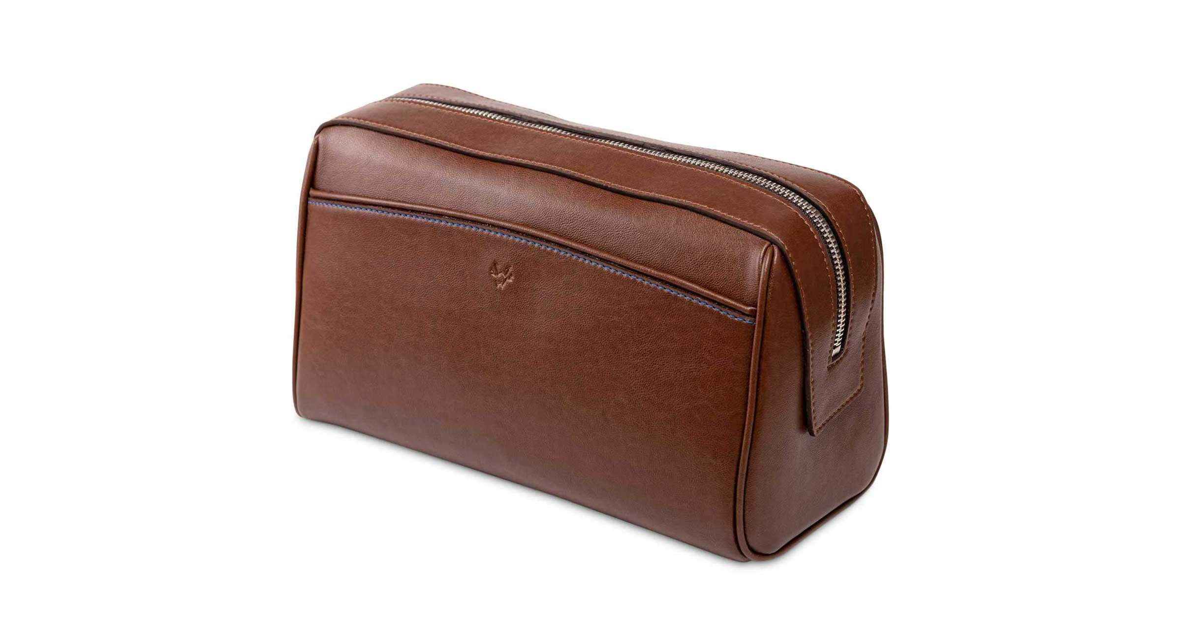 Mens Luxury Vegan Washbag | Watson & Wolfe