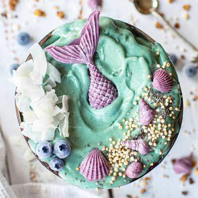 Mermaid Smoothie Bowl, Vegan Recipes | Watson & Wolfe