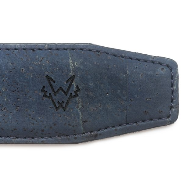 Cork Leather Belt in Blue | Watson & Wolfe