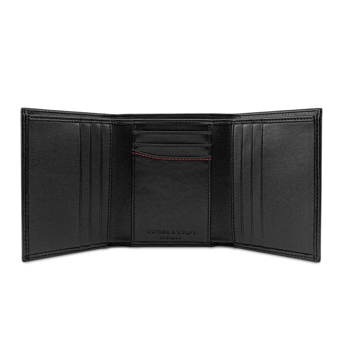 Watson & Wolfe Vegan Wallet In Black