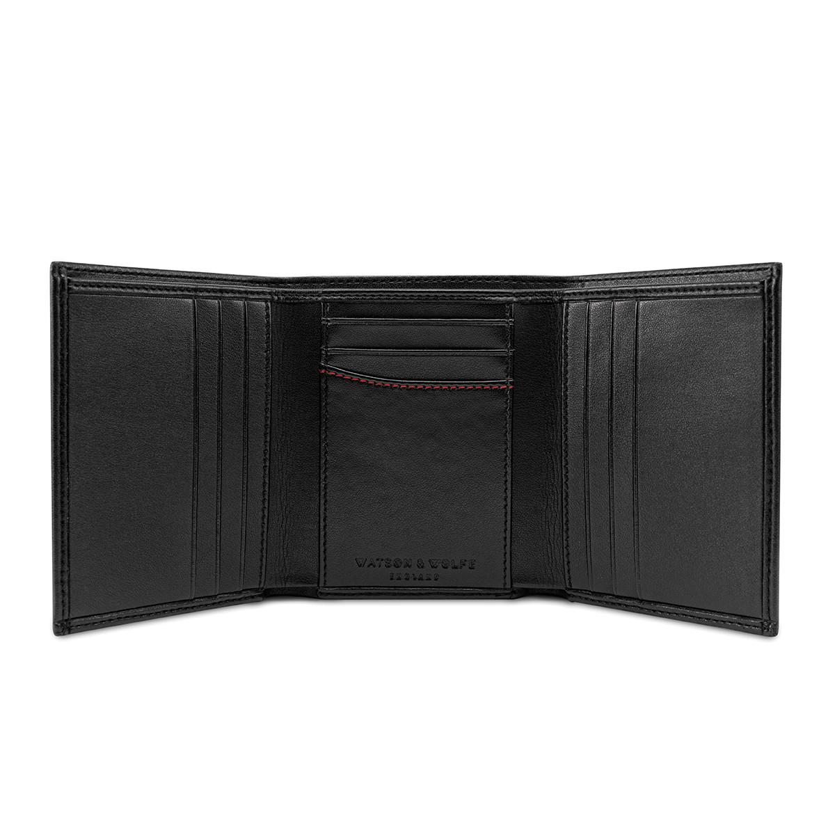 Watson & Wolfe Trifold Wallet in Black