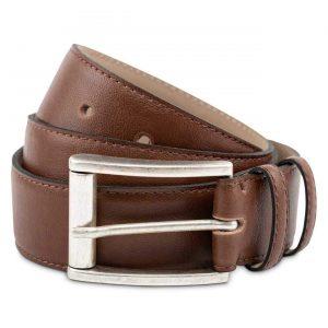 Mens Faux Leather Belt in Oakbark | Watson & Wolfe
