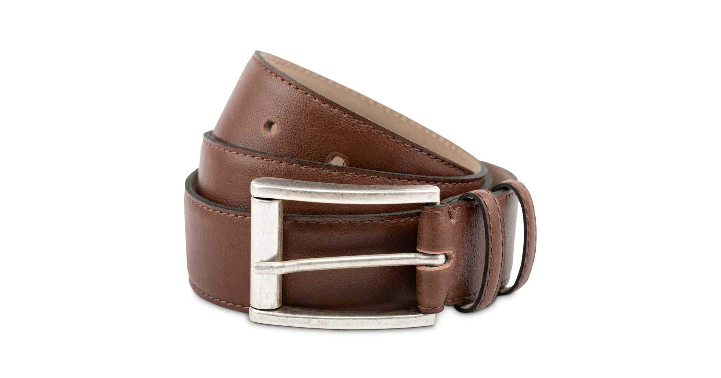 Mens Faux Leather Belt in Oakbark | Watson & Wolfe