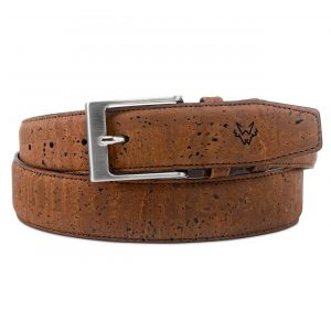 Mens Luxury Cork Belt in Brown | Watson & Wolfe