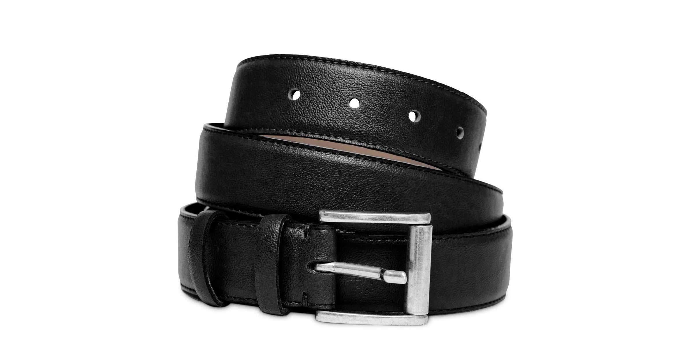 Luxury Cruelty Free Vegan Belt for Men in Black | Watson & Wolfe