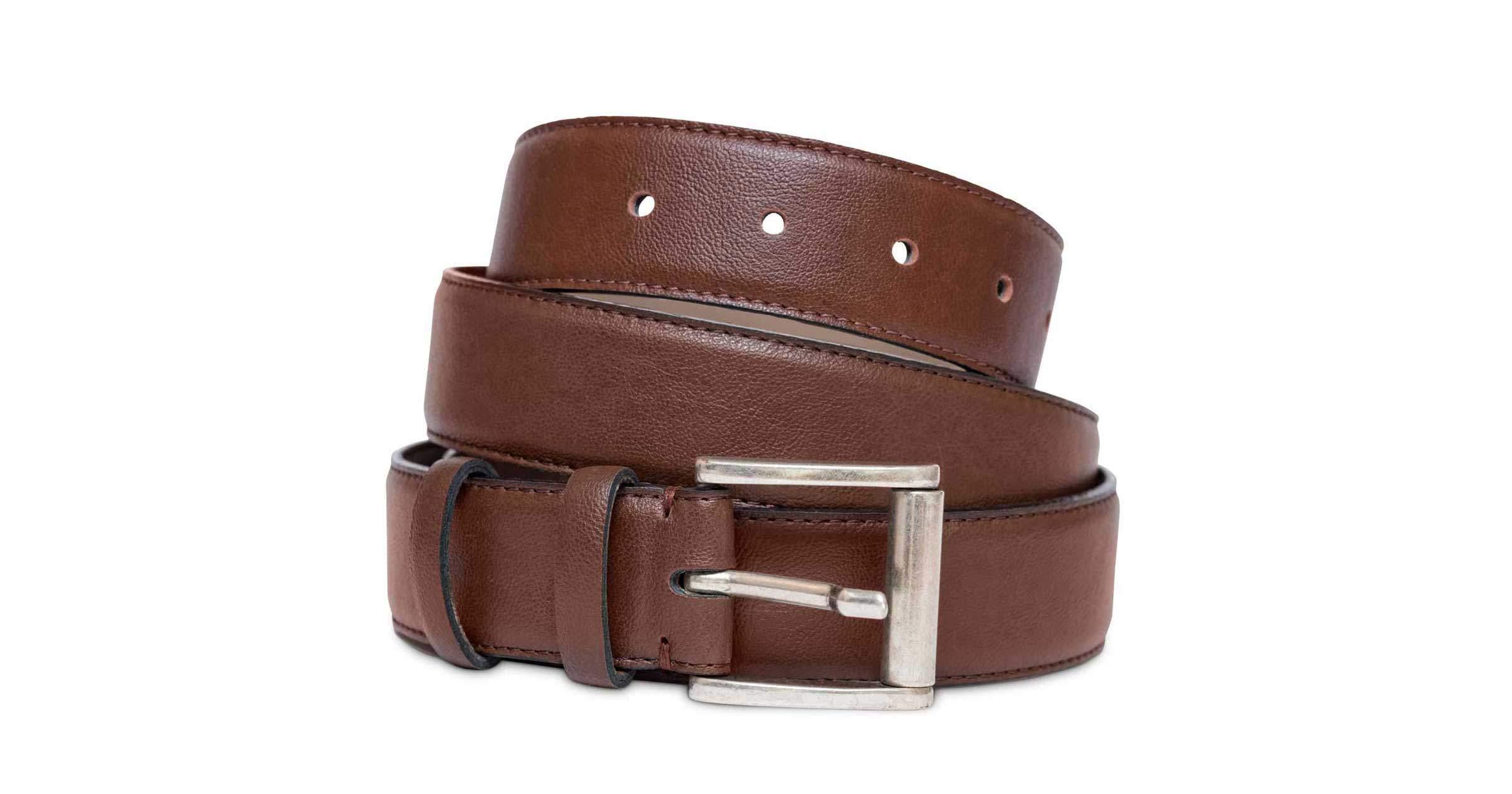 Men's Non Leather, Vegan Belt in Oakbark | Watson & Wolfe