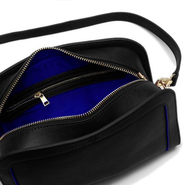 Vegan Crossbody Bag in Black   Watson & Wolfe