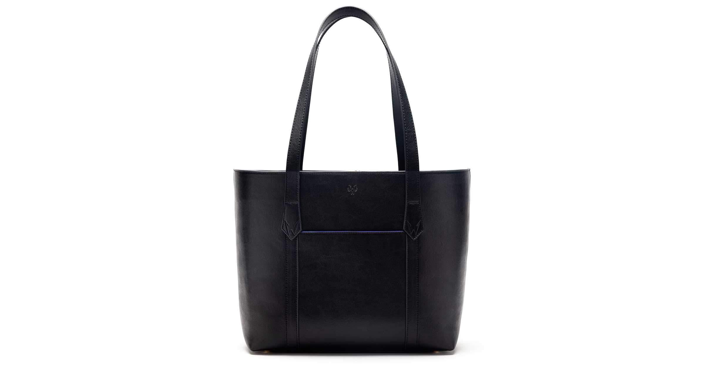 Maddox Vegan Tote Bag in Black | Watson & Wolfe
