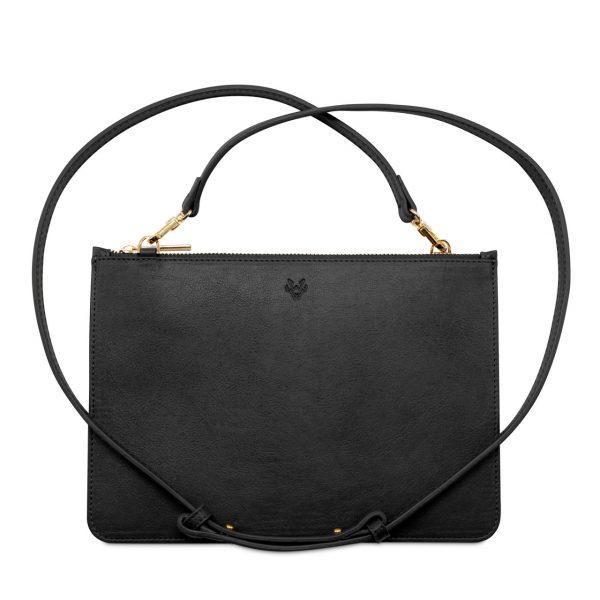 Crossbody Clutch Bag in Black   Watson & Wolfe