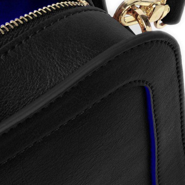 Wilton Crossbody Bag in Black   Watson & Wolfe
