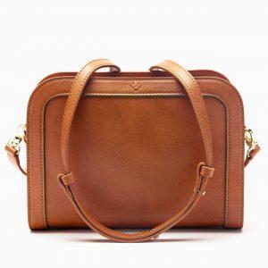 Wilton Crossbody Bag in Cognac | Watson & Wolfe