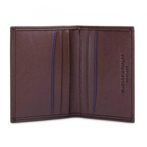 Luxury Mens Credit Card Wallet in Brown | Watson & Wolfe