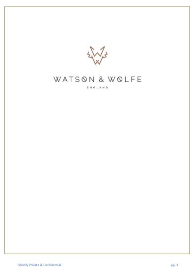 Wholesale Brand Document   Watson & Wolfe