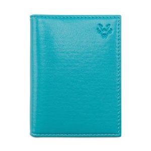 Folding Card Holder in Turquoise | Watson & Wolfe